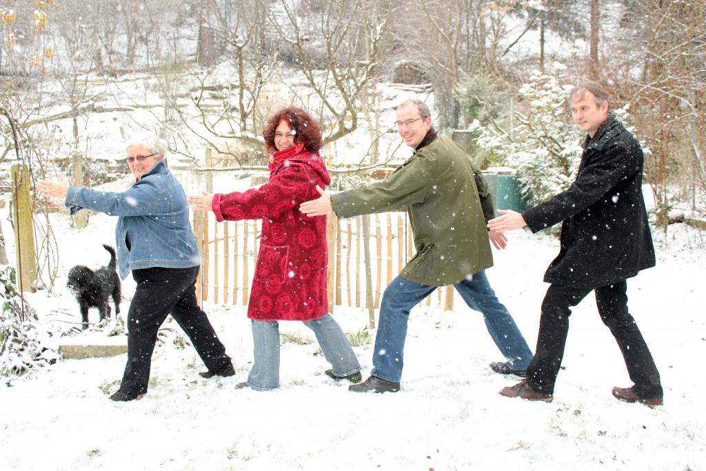 v.l.n.r. Johanna Ettl, Martina Müller, Werner Leuthner, Joachim Rogginer