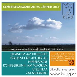 Info-Folder zur Gemeinderatswahl am 25. Jänner 2015